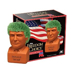 Chia Donald Trump Freedom of Choice Pottery Planter : Patio, Lawn & Garden