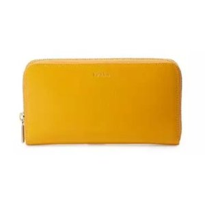 Furla Classic XL Zip-Around Leather Wallet, Giallo