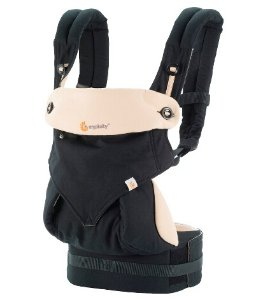 Free $55 Giftcard Ergobaby 360 4 Position Baby Carrier - Black & Camel