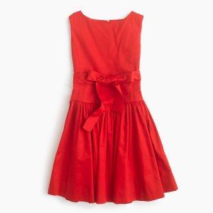 Girls' Sateen Bow Dress : Girls' Dresses