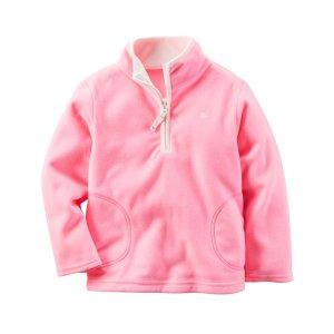 Baby Girl Half-Zip Fleece Pullover   Carters.com