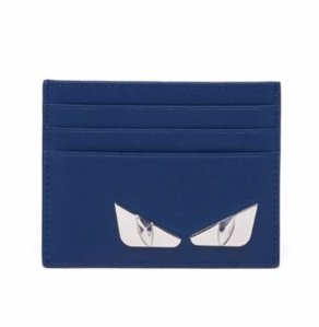 Fendi Monster Face Calf Leather Card Case @ Saks Fifth Avenue