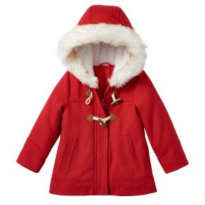 Toddler Girl Carter's Red Toggle Coat