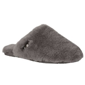 Womens UGG Fluff Clog Slipper - Grey - FREE Shipping & Exchanges