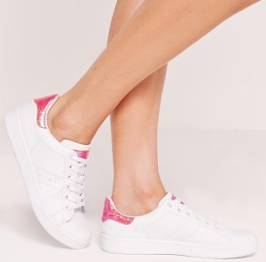 50% OffWhite Sneakers @ Missguided