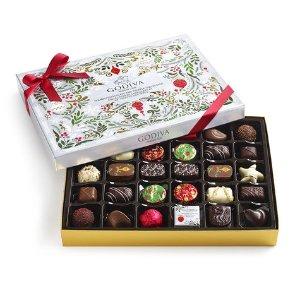 Assorted Chocolate Bûche de Noël Seasonal Gift Box, 32 pc | GODIVA