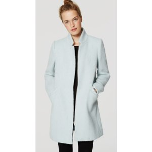 Brushed Stand Collar Coat