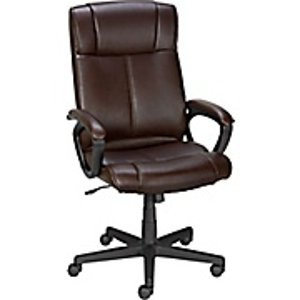 Staples® Turcotte Luxura® High Back Office Chair, Brown | Staples®