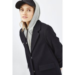 PETITE Hoodie Hybrid Coat - Sale - Sale & Offers - Topshop USA