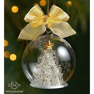 Lenox® Majestic Holiday Tree Wonderball Ornament | 1800Flowers.com - 155233