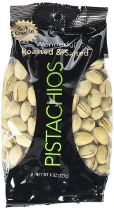 $16.43 Wonderful Pistachios, Roasted and Salted, 8 Ounce (Pack of 25)