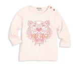 KENZO 婴儿粉色虎头衫