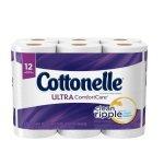 Cottonelle Ultra ComfortCare Toilet Paper, Bath Tissue, 12 Rolls