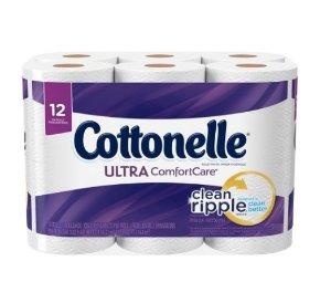 $3.74Cottonelle Ultra ComfortCare Toilet Paper, Bath Tissue, 12 Rolls