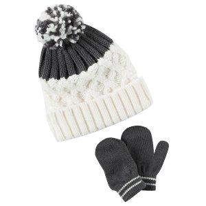Toddler Girl Hat & Mitten Set   Carters.com