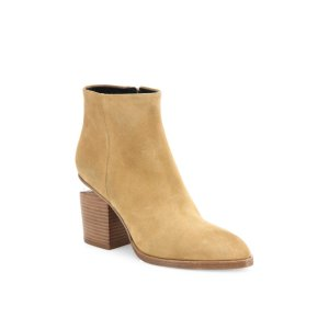 Gabi Suede Block-Heel Booties by Alexander Wang