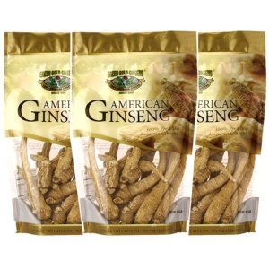 American Ginseng Root Large 8oz bag x 3