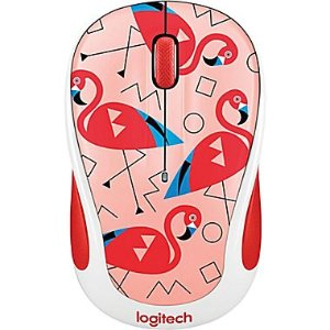 Logitech M325C Wireless Optical Ambidextrous Mouse, Flamingo (910-004678) | Staples®