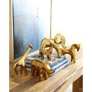 Dwell Studios by Global Views Golden Animal Sculptures