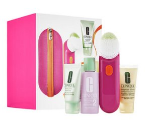 $89.5 CLINIQUE Clean Skin, Great Skin Sonic System Purifying Cleansing Brush Set for Drier Skins