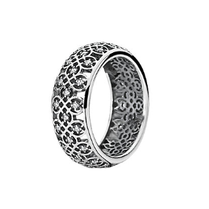 Rue La La — PANDORA Silver CZ Lattice Ring