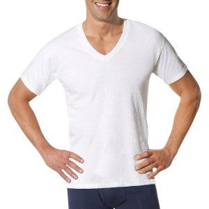 $12.88 Hanes Men's Bonus Packs White V-Neck 6 Pack + Get 3 Free