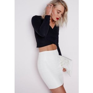 Faux Leather Mini Skirt White - Mini - Skirts - Missguided