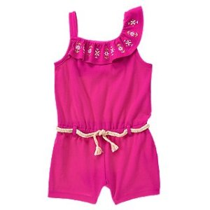 Neon Embroidered Romper at Crazy 8