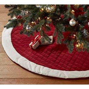 Christmas Tree Skirts   Pottery Barn
