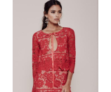 For Love and Lemons Gianna Crop Top Hot Red