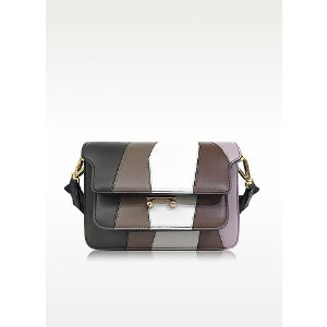 Marni Thyme and Dusty Olive Leather Mini Trunk Bag at FORZIERI