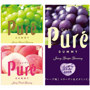 KANRO Pure Gummy Candy, Multiple Flavors Available
