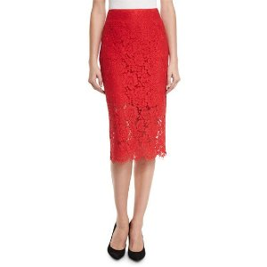 Diane von Furstenberg Lace Top & Pencil Skirt