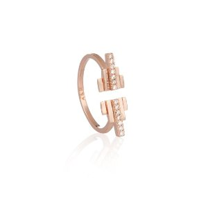 Rose Gold Pyramid Cocktail Ring