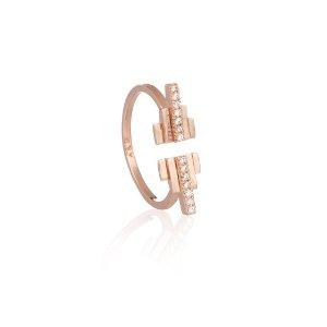 Rose Gold Pyramid Cocktail Ring
