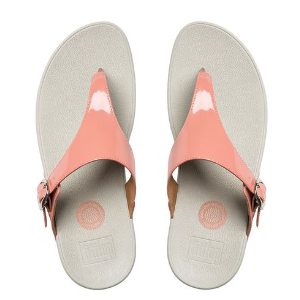 The Skinny Imi-Leather Flip Flops Peach | Official FitFlop Store