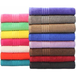 Mainstays Essential True Colors Wash Cloth in Pink or Mint Green