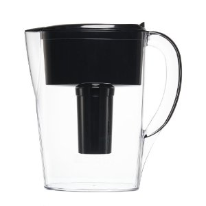 Brita 6 Cup Space Saver Water Filter Pitcher with 1 Filter, Black | Jet.com