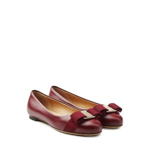 Varina Leather Ballet Flats from SALVATORE FERRAGAMO | Luxury fashion online | STYLEBOP.com
