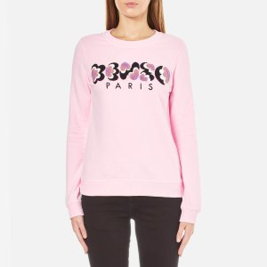 KENZO Women's Embroidered Logo Sweatshirt - Pale Pink - Free UK Delivery over £50