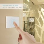 Intey Touch Screen Switch Crystal Glass Panel Wall Light Touch Switch