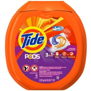 $11.14 Tide PODS Spring Meadow HE Turbo Laundry Detergent Pacs 81-load Tub