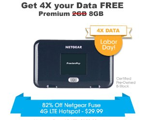 $29.99Netgear Fuse Hotspot (Pre-Owned) + 8GB 4G LTE/3G Data Trial