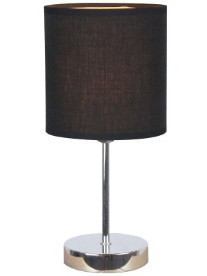 Simple Designs LT2007-BLK Chrome Mini Basic Table Lamp