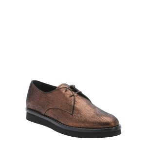 Tod's Bronze Metallic Suede Lace-Up Oxfords (373503101) | Bluefly