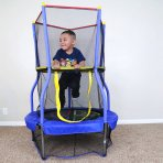 "$29 Skywalker Bounce-N-Learn 40"" Round Trampolines with Safety Enclosure"