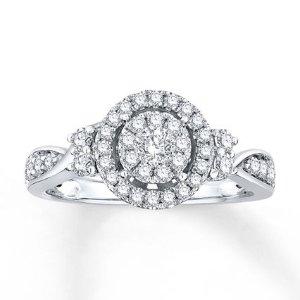 Kay - Diamond Engagement Ring 5/8 ct tw Round-cut 10K White Gold