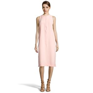 Balenciaga Light Pink Stretch Crepe Zip Detail Shift Dress (391074701) | Bluefly