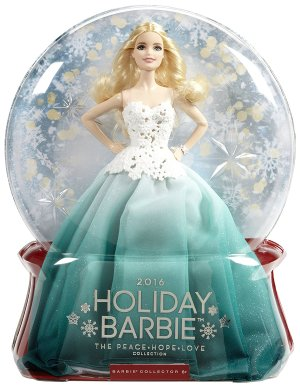 $31.99 Barbie 2016 Holiday Doll