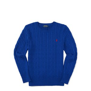 Cable-Knit Cotton Sweater - Sweaters � Big Kid (sizes 8-20) - RalphLauren.com